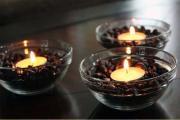 Kahve çekirdeklerinden dekoratif mum tavsiyeleri