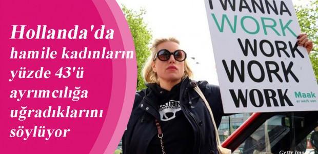 Hollanda'da hamile kadınların yüzde 43'ü ayrımcılığa uğradıklarını söylüyor