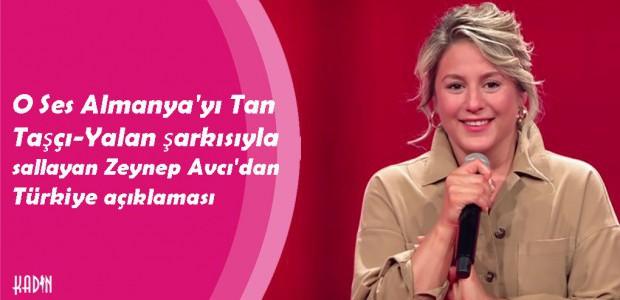 O Ses Almanya'yı Tan Taşçı-Yalan şarkısıyla sallayan Zeynep Avcı'dan Türkiye açıklaması