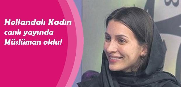 Hollandalı Kadın canlı yayında Müslüman oldu!
