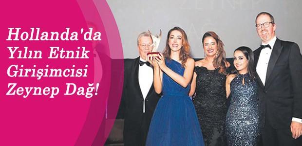 Hollanda'da Yılın Etnik Girişimcisi Zeynep Dağ!